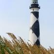 Cape Lookout Lighthouse and Sea Oats — Stock Photo