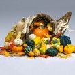 Stock Photo: Cornucopiof Thanksgiving