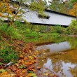 Portland Mills Covered Bridge in Autumn — Stock Photo