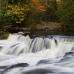 Michigan's Upper Bond Falls — Stock Photo #34778943