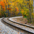 Autumn Railway — Stock Photo