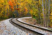 Autumn Railway — Stock Photo