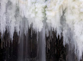Waterfall Icicles — Stock Photo