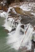 Winter Waterfall in Indiana — Stock Photo