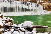 Winter at Cataract Falls — Stock Photo