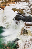 Winter Waterfall — Stock Photo