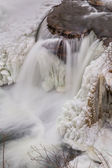 Frozen Waterfall from Above — Stock Photo