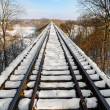 Snowy Railway Trestle — Stock Photo