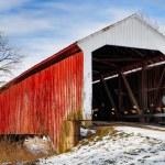 Vintage Covered Bridge — Zdjęcie stockowe