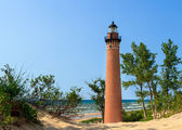 Lighthouse at Little Sable Point — Stock Photo