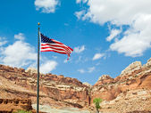 US Flag at Capitol Reef — Stock Photo