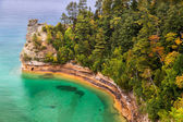 Miner's Castle at Pictured Rocks — Stock Photo