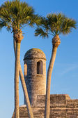 Bell Tower and Palms — Stock Photo