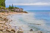 Cave Point Wisconsin Coastline — Stock Photo