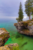 Misty Morning at Cave Point — Stock Photo