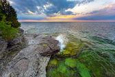 Cave Point Daybreak — Stock Photo