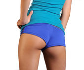 Athletic trim fit well toned bottom — Stock Photo
