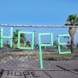 Hope spelled out in letter form — Stock Photo