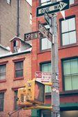 Soho street signs in NYC — Stock Photo