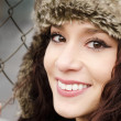 Portrait of a beautiful smiling young woman — Stock Photo