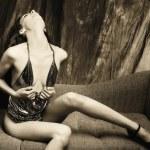 The sensual sexy woman — Stock Photo