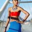 Beautiful African American Fashion model — Stock Photo