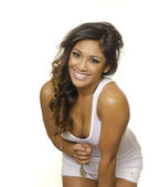 Sexy curvy exotic beautiful young woman — Stock Photo