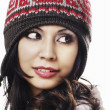 A photo of beautiful girl is in winter clothes — Stock Photo