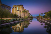 Az, Canal in downtown Scottsdale, AZ,USA — Stock Photo