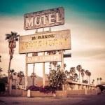 Roadside motel retro style motel sign — Stock Photo #26694769