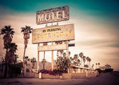 Roadside motel retro style motel sign — Stock Photo