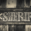Stock Photo: Sheriff sign