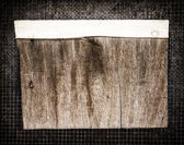 Message board grunge wood wire frame — Stock Photo