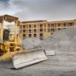 Industrial construction site with bulldozer — Stock Photo