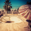 Derelict road side motel swimming pool American south west — Stock Photo #30824853