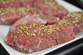 Raw beef steak — Стоковое фото