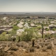 Desert mountainside community in Arizona — Stock Photo