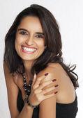 Smiling happy Indian lady — Stock Photo
