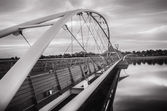 Suspension bridge over Tempe Town Lake, Az,USA — Stock Photo