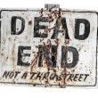 Creepy Dead End Sign — Stock Photo