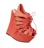 Ladies fashion wedge pump shoes — Stock Photo