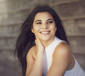 Mulher sorridente — Foto Stock