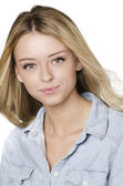 Woman with blonde hair — Stock Photo