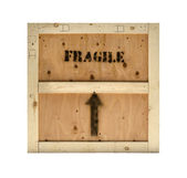 Wood crate fragile texture background — Stock Photo