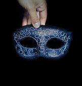 Blue Venetian mask — Stock Photo