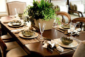 Table setting in home — Stockfoto