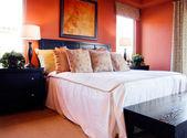 Interior design Big stylish bedroom — Stock Photo
