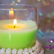 Green candle — Stock Photo