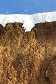 Soil and snow — Stock Photo