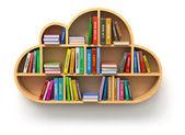 Online kütüphane kavramı — Stok fotoğraf